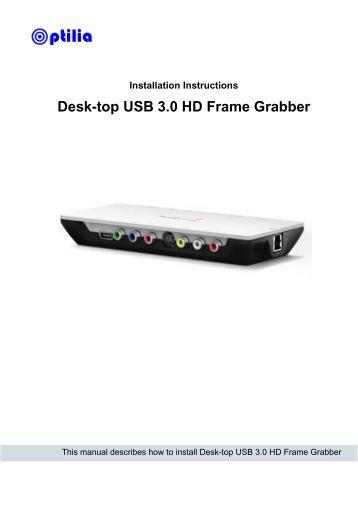 Desk-top USB 3.0 HD Frame Grabber - Optilia