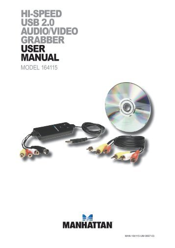 hi-speed usb 2.0 audio/video grabber user manual - Manhattan