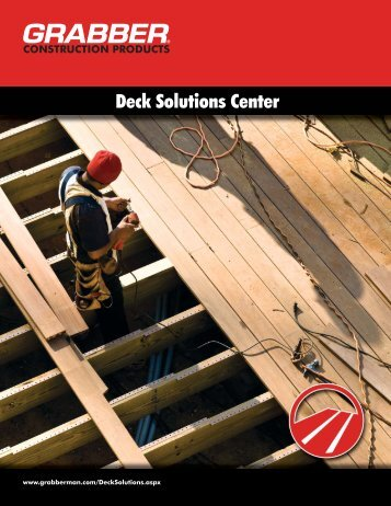 Deck Solutions Center - Grabber Construction Products