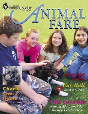 SUMMER 2005 • V ol. 40 No. 2 - San Diego Humane Society and ...