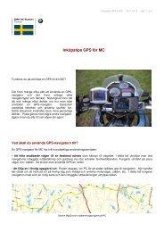 Inköpstips GPS för MC - Ingrid Resmark & Mikael Resmark