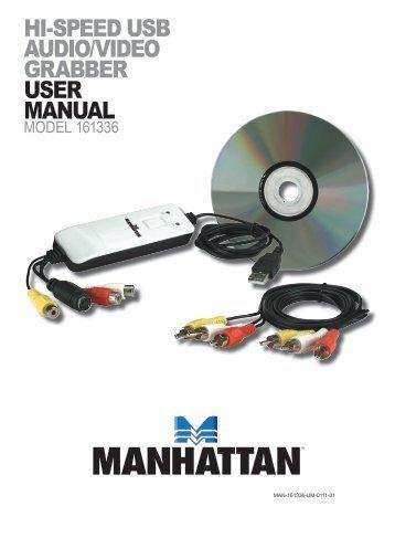 hi-speed usb audio/video grabber user manual - Manhattan