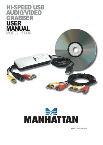 hi-speed usb audio/video grabber user manual - Manhattan