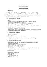 Video Grabber USB 2.0 Bedienungsanleitung 1. Einleitung Video ...