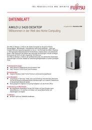 Datenblatt AMILO Desktop Li 3420 - Fujitsu