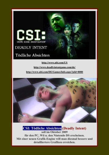 CSI: Tödliche Absichten (Deadly Intent) - Gamepad.de