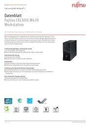 Datenblatt Fujitsu CELSIUS W410 Workstation