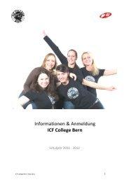 Informationen & Anmeldung ICF College Bern
