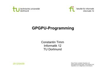GPGPU-Programming - TU Dortmund