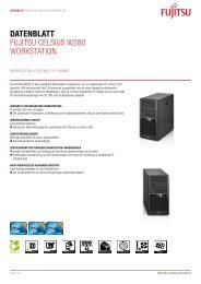 Datenblatt Fujitsu CELsius W280 Workstation - reckzigel.at