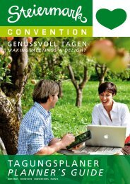 TAGUNGSPLANER PLANNER´S GUIDE - Steiermark Convention