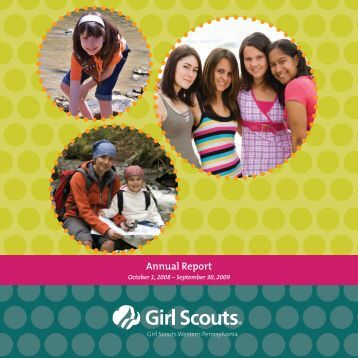 2008-09 Annual Report - Girl Scouts Western Pennsylvania