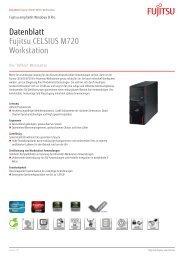 Datenblatt Fujitsu CELSIUS M720 Workstation