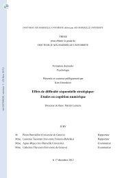 Effets de difficulté séquentielle stratégique: Etudes en cognition ...