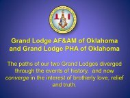 Historical Background - Grand Lodge of Oklahoma