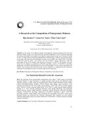 A Research on the Composition of Pomegranate Molasses - Uludağ ...