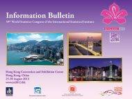 Information Bulletin - World Statistics Congress
