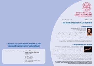 Weitere Informationen zum Thema - Institut Prof. Dr. Georg Kurz GmbH