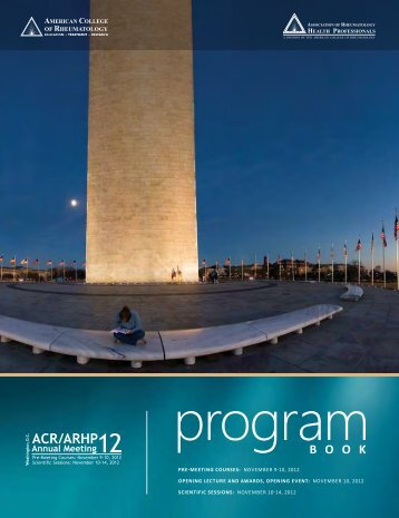 PRE-MEETING COURSES - American College of Rheumatology