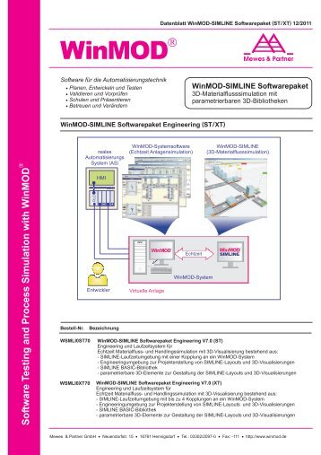 Datenblatt WinMOD-SIMLINE