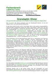 Granatapfel- Elixier - Facharztpraxis Labor Doz. Schön