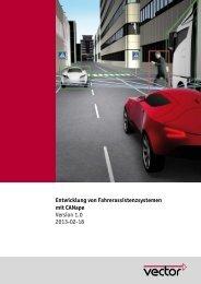 Entwicklung von Fahrerassistenz-Systemen mit CANape - Vector