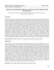 Aspectos da Comercialização Ilegal de Aves nas ... - EDUEP - Uepb
