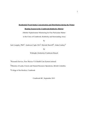 Nov 1-4-corrected-Final AQ Report-9 September 2011 - Wildsight