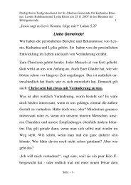Jesus sagt zu Levi: Komm, folge mir! - der St.-Markus-Gemeinde zu ...