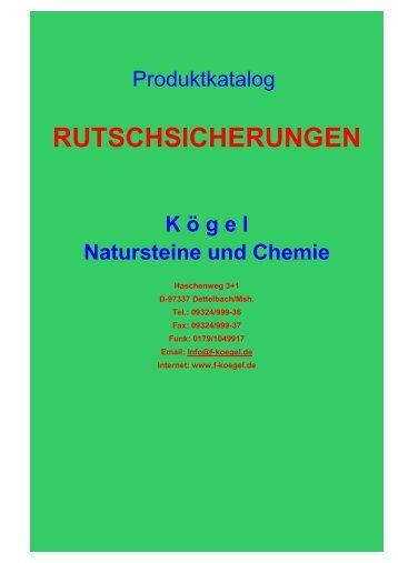 """Katalog """"Trittstufen-Rutschsicherung"""" - Naturstein und Chemie"""