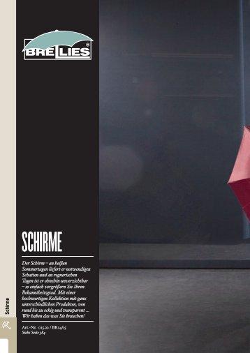 Schirme - Logo in Garn Baldewein