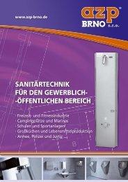 Katalog - für den gewerblichöffentlichen Bereich - AZP Brno sro