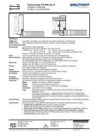 FH 1.2 Feuerschutztür T30 AHS Typ 10 - Grauthoff Türengruppe