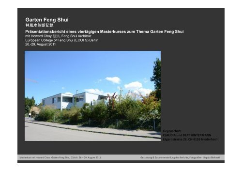Garten Feng Shui