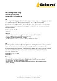 Monteringsanvisning Montageanleitung Assembly instructions - Aduro