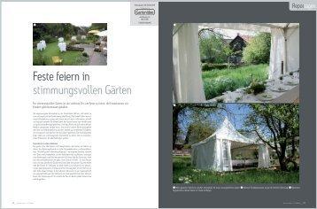 Feste feiern in stimmungsvollen Gärten - Grünplan GmbH