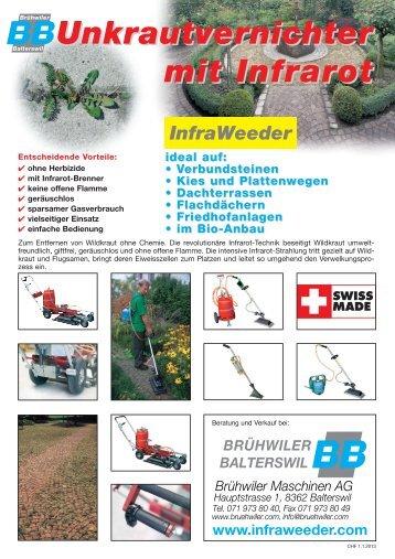 BB WeederCHF 2013 A4BB CHF - Brühwiler Maschinen AG