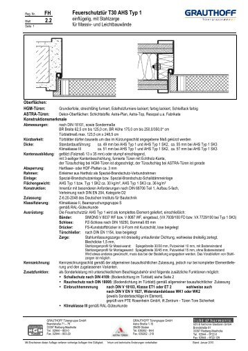 9 2 einbauanleitung tuerblatt t30 rs ahs typ grauthoff. Black Bedroom Furniture Sets. Home Design Ideas
