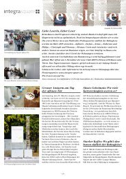 Newsletter - Isabel Baumberger