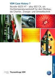 Nicrofer 6025 HT - alloy 602 CA - ThyssenKrupp VDM