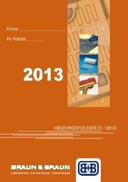 Heizungsfolder inkl. Preise 2013 - Braun & Braun