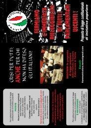 Volantino Fiamma proposta legge - Fiamma Tricolore