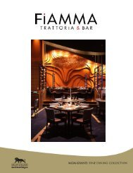 Download Fiamma Menus PDF - MGM Grand Weddings