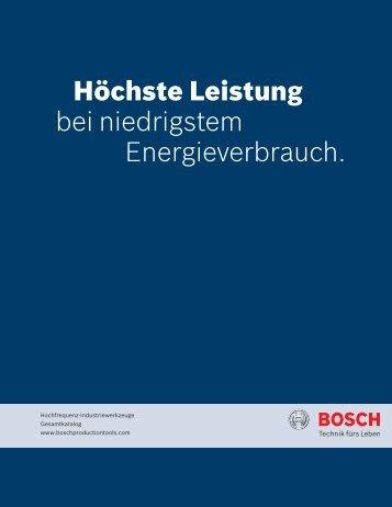 Produktkatalog als PDF herunterladen - Bosch Production Tools