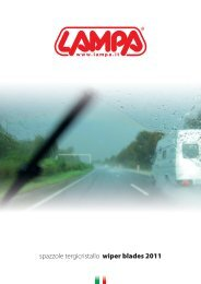 spazzole tergicristallo wiper blades 2011 - Pilot