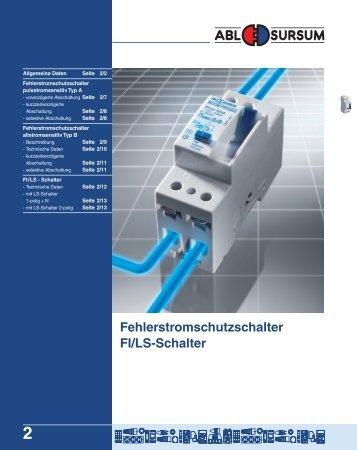 Fehlerstromschutzschalter FI/LS-Schalter