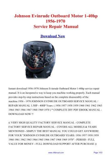 mercury mariner outboard 30hp marathon sea pro 2 stroke service repair manual download 1997 onwards