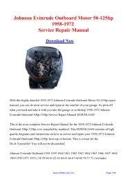 Johnson Evinrude Outboard Motor 50-125hp 1958 ... - Repair manual