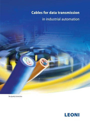 Cables for data transmission in industrial automation - Leoni