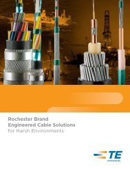 Rochester Brand Engineered Cable Solutions for ... - TE Connectivity